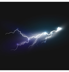 Realistic lightning icon vector
