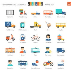 Transport colorful set 02 vector