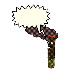 Cartoon cigar with speech bubble vector