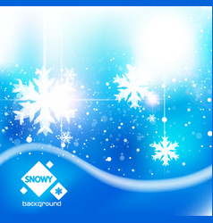 Winter snow blue christmas background vector