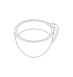 Coffee cup icon isometric 3d style vector image