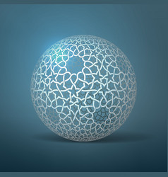 Abstract geometric sphere based on vector