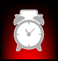 alarm clock sign postage stamp or old photo style vector image