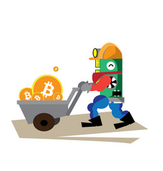 bitcoin red happy vector image vector image
