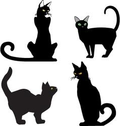 BlackCats vector image vector image