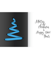 christmas tree made from blue lace vector image