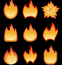 fire burning vector image vector image