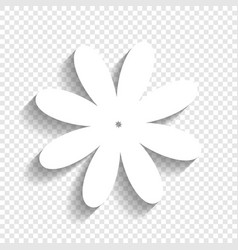 Flower sign white icon with vector