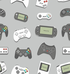 gamepad seamless background vector image
