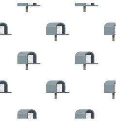Gray mailbox pattern flat vector