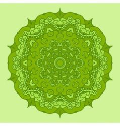 Green Round Decorative Design Element vector image vector image