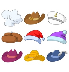 hats set vector image vector image