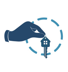 house key in hand vector image vector image