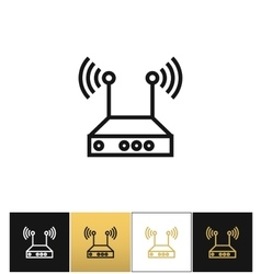Internet network wireless router icon vector image