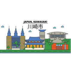 japan kawasaki city skyline architecture vector image