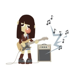 Japanese rock star girl vector