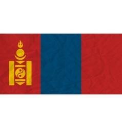 Mongolia paper flag vector