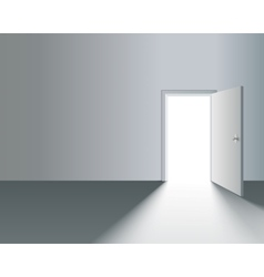 Open Door in Wall vector image vector image