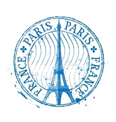 Paris logo design template Eiffel Tower vector image