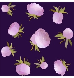 Peony floral seamless pattern pink cute vector