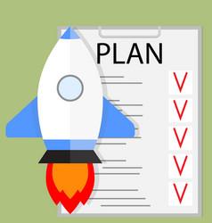 Planning startup vector
