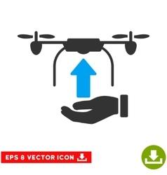 Send Drone Hand Eps Icon vector image vector image