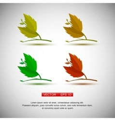 Set of four plant or leaf icons vector image vector image