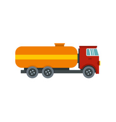 Tanker truck icon flat style vector