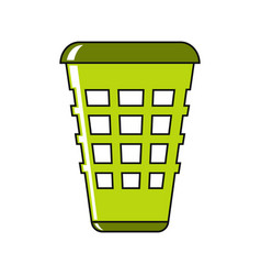 trash cartoon icon in white background vector image vector image