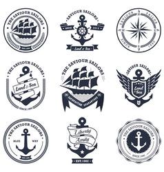 Vintage Retro Nautical vector image vector image