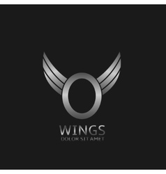 Wings O letter logo vector image vector image
