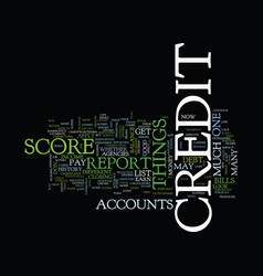 Your credit score dos and donts text background vector
