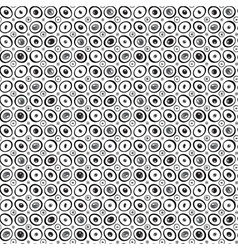 Eyes or beads pattern black and white vector