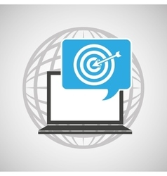 Globe computer targget communication vector