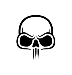 Skull icon isolated image vector
