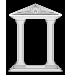 Antique roman temple frame for design vector