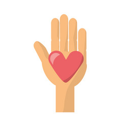 hand with heart vector image