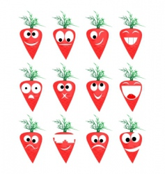 Carrots smile vector