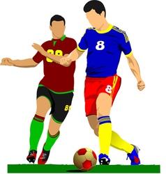 al 0919 soccer05 vector image