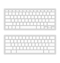 Computer keyboard blank template set vector