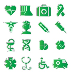 Medicine icons vecior3 green vector