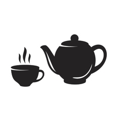 Black tea icon vector