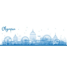 Outline olympia washington skyline vector