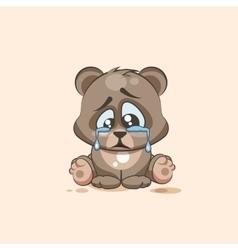 isolated Emoji character cartoon sad and vector image