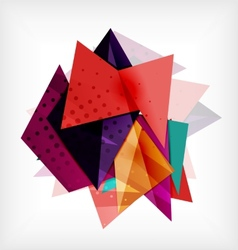 Abstract 3d triangle blank background vector