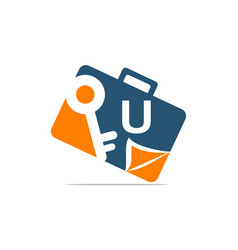 Briefcase key document initial u vector