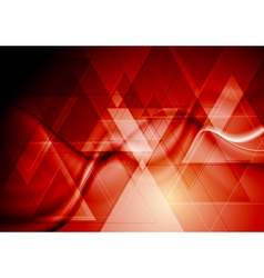 Bright red hi-tech design vector image vector image