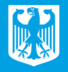 coat of arms of germany icon white vector image