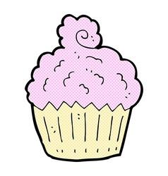 comic cartoon cupcake vector image vector image