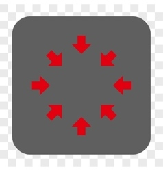 Compact arrows rounded square button vector